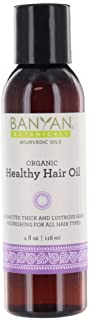 Banyan Botanicals Healthy Hair Oil � Organic Herbal Oil with Bhringaraj & Amla � Ayurvedic Hair Care for Strong, Thick, Lustrous Hair & for Scalp Massage � 4oz. � Non GMO Sustainably Sourced Vegan