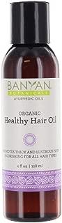 Banyan Botanicals Healthy Hair Oil - USDA Organic, 4 oz - Nourishing Herbal Oil for All Hair Types & Scalp Massage