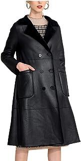 MINIKIMI Halloween Cappotto Donna Steampunk Doppio Petto Invernale Gotico Oversize Casual Giacca Pelle Donna Vintage Manica Lunga