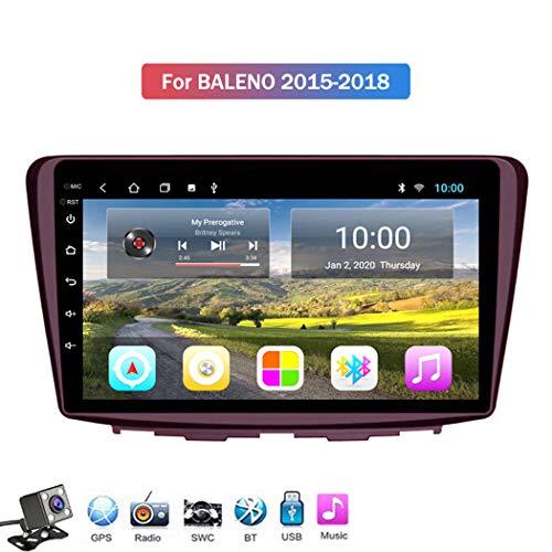 Buladala 9 Pouces Full écran Tactile Android 8.1 Quad Core Navigation Multimédia pour Suzuki Baleno 2015-2018, Autoradio Stéréo avec Système GPS, Soutient WALN USB SD etc,WiFi: 1+16gb