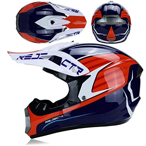 SYANO Casco da motocross per bambini,Motocross MX Casco,City caschi,Casco della Bicicletta, All Terrain Motocross Downhill casco,Unisex Casco Moto Cross,D.O.T Certificato (S)