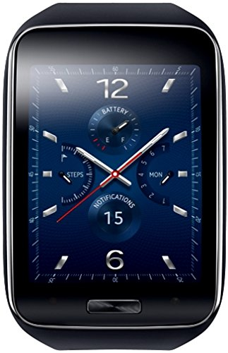 Samsung Gear S Smartwatch, Blu/Nero [Italia]