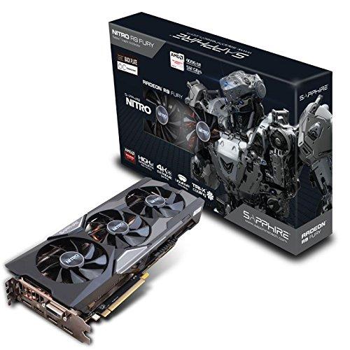 Sapphire RadeonR9 Fury 4GB HBM Radeon R9 Fury 4GB High Bandwidth Memory (HBM) - Grafikkarten (Radeon R9 Fury, 4 GB, High Bandwidth Memory (HBM), 4096 Bit, 4096 x 2160 Pixel, PCI Express 3.0)
