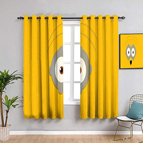 weilan1999 Minions dekorative Vorhänge mit Ösen, Verdunkelungsvorhänge für Kinderzimmer, 106,7 x 182,9 cm