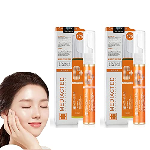 2PCS-Instant Blemish Removal Gel VC Serum Brighten Skin Care Cream,Freckle Lotion Essence Cream