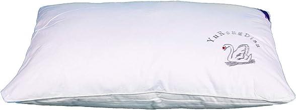 مخدة حشو ريش ناعمة مريحة غطاء قطن، 50x70 سم