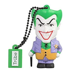 Tribe DC Comics Warner Bros. Pendrive Figure 8 GB Funny USB Flash Drive 2.0, Keyholder Key Ring, Joker (FD031405)