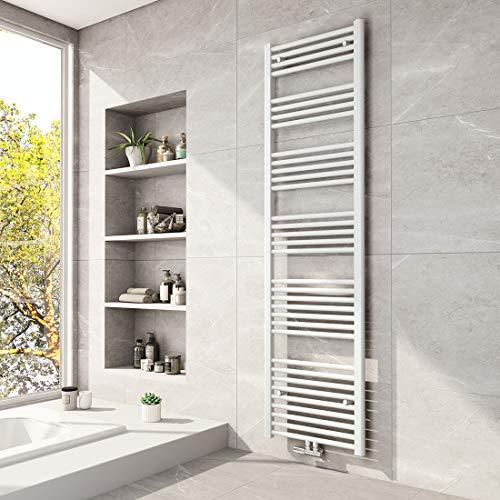 Meykoers Badheizkörper 1800x500mm Mittelanschluss Weiß 1027 Watt, Handtuchtrockner Handtuchwärmer Heizkörper Heizung für Bad