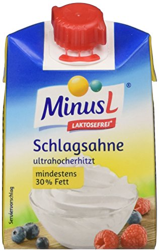 Minus L Schlagsahne 30% laktosefrei, 12er Pack (12 x 200 ml)