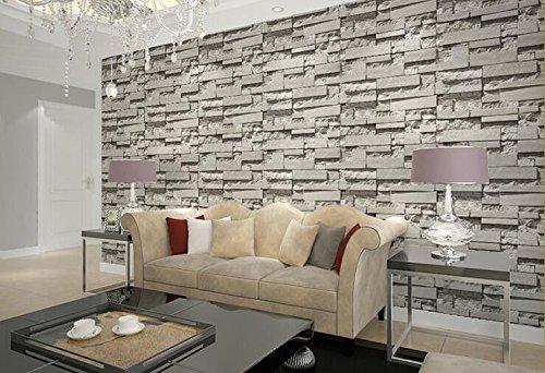 Cczxfcc 3D Brick Brick Nonwoven Wallpaper Sofa Tv Background Barber Shop Clothing Shop Grey Brick Wallpaper. Gray
