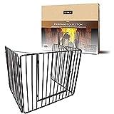 de vielle def760621 griglia di sicurezza per proteggere i bambini dal fuoco, metallo, nero, 91 x 76 x 70 cm