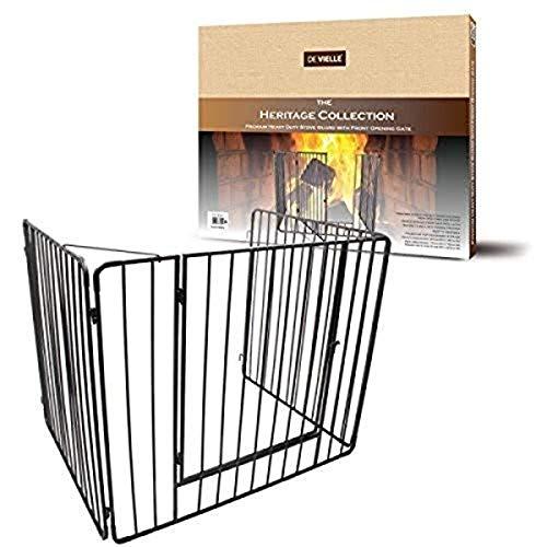 De Vielle - Protector de chimenea con puerta, cuidado para