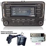 Autoradio Stereo RCN210 +CAN Kabel Bluetooth CD USB AUX SD für VW Golf Passat TOURAN Jetta Polo TIGUAN Caddy EOS CC