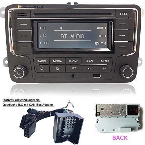 Radio Coche estéreo Navegador RCN210 + Can Cabel Bluetooth CD MP3 USB AUX SD for para VW Golf Passat TOURAN Jetta Polo TIGUAN Caddy EOS CC