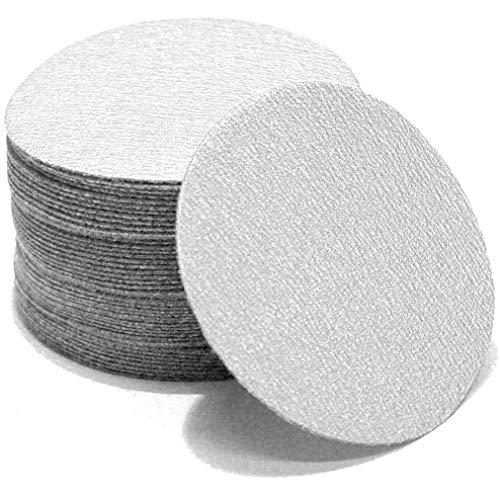 Woltersberger® 100 Stück Exzenter Schleifscheiben Ø 75mm | Körnung P400 | ohne Loch in weiß | Klett Schleifpapier Haft