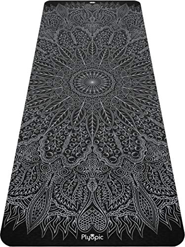 Plyopic Printed Yoga Mat | Eco-Friendly, Non Slip Mat with Carrying Strap. 6mm Thick....