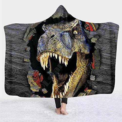 3D Printed Hooded Blanket Adult Colorful Child Fleece Wearable Blanket Microfiber Bedding 150 * 220Cm