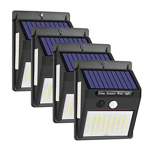 100 LED Solaire Power Light PIR capteur Mouvement sécurité Jardin extérieur Applique Murale 4 Pack la décoration Jardin, éclairage extérieur