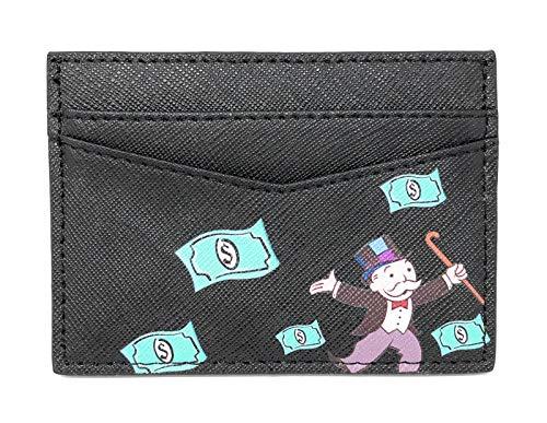 Mr. Monpoly lederen cardhouder (zwart) - Rich Uncle Pennybag - creditcardhouder - portemonnee