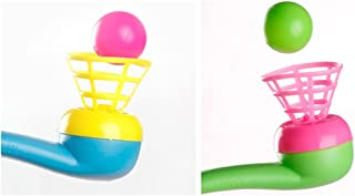 Buedvo Assorted Color Magic Blowing Pipe Blow Pipe & Balls - Pinata Toy Loot/Party Bag Fillers Wedding/Kids Floating Blow Ball Educational Toy