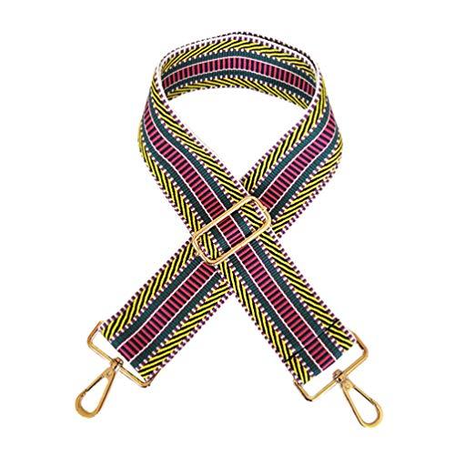 TENDYCOCO Shouolder tas riem met gesp verstelbare schoudertas riemen vervanging koppeling portemonnee riem voor meisjes dames vrouwen 130 * 5.2CM Geel