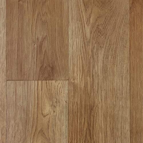 PVC-Boden Holzdielenoptik Braun Landhaus m. Vliesrücken| Vinylboden 4m Breite & 4m Länge | Fußbodenheizung geeignet | Platten strapazierfähig & pflegeleicht | robuster, rutschhemmender Fußboden-Belag