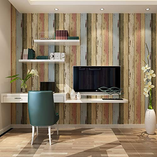 Amerikaans houtmotief voor de productie van oud behang retro slaapkamer woonkamer TV muur verticaal gestreepte achtergrond