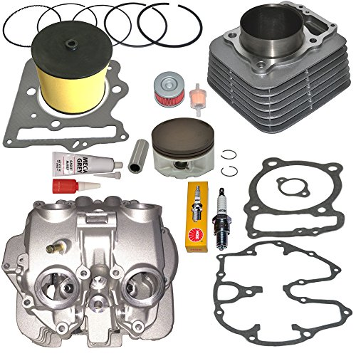 TOP NOTCH PARTS DIRECT REPLACEMENT CYLINDER AND HEAD WITH POLISHED PORTS VALVE COVER PISTON RINGS GASKET FOR HONDA TRX400EX TRX 400EX 1999 2001 2002 2003 2004 2005 2006 2007 2008
