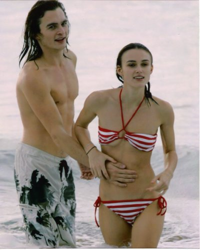 Keira Knightley bikini Orlando Bloom 8x10 photo G7944