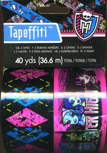 Tapeffiti - Monster High - Tape - 2 in X 20 yds (2-Pack) (40 yds Total)