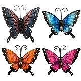 Decoración de pared de mariposa, de hierro forjado Unknows, decoración de pared, elegante escultura colgante para el hogar, dormitorio, mariposa, decoración de pared
