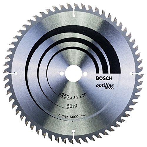 Bosch 2 608 640 665 - Hoja de sierra circular Optiline Wood - 250 x 30 x 3,2 mm, 60 (pack de 1)