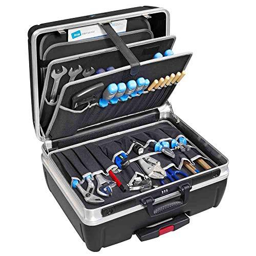 B&W Werkzeugkoffer RHINO mobil mit Werkzeugeinsteckfächern (Koffer aus HDPE, Volumen 42l, 48,5 x 37,3 x 23,2 cm innen) 115.04/P, ohne Werkzeug