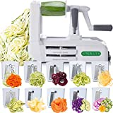 Best Zoodle Makers - Spiralizer Ultimate 10 Strongest-and-Heaviest Duty Vegetable Slicer Best Review