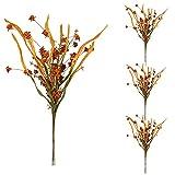 ZRSWV 4 flores artificiales hojas falsas 57 cm de papel flores de otoño tallo para florero flores secas ramo otoño invierno decoración de fiesta