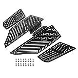 Cuscino Poggiapiedi in Lega di Alluminio, 4 Pezzi Pedane Antiscivolo Pedana Poggiapiede per Tmax 530 2012-016(Black)