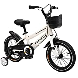Phoenix KAKU Kids Bike for Boys and Girls, 12 14 16 18 inch with Training Wheels, in Multiple Colors (White, 18 INCH)