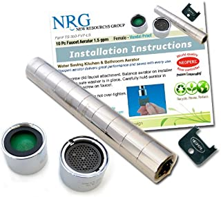 Pro 10 Pack Neoperl 1.5 GPM Female Vandal Proof Faucet Aerator with Key Water Saving Soft White Aerated Stream