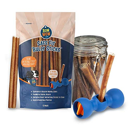Bow Wow Labs Bully Buddy Starter Kit - Anti-Choking Bully Stick Safety Device for Dogs (Medium)