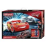 Carrera GO!!! Disney Pixar Cars Speed Challenge Rennstrecken-Set | 4,9m elektrische Carrerabahn mit Lightning McQueen & Jackson Storm Spielzeugautos | mit 2 Handreglern & Streckenteilen | Ab 6 Jahren