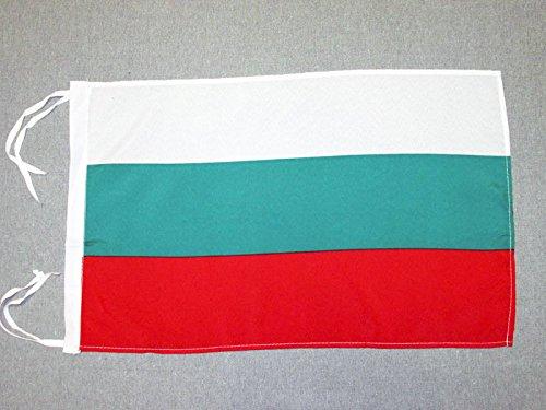 AZ FLAG Flagge BULGARIEN 45x30cm mit Kordel - BULGARISCHE Fahne 30 x 45 cm - flaggen Top Qualität
