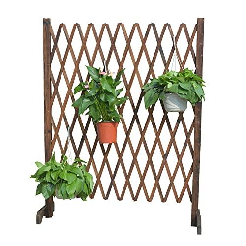 Decoraciones de valla de jardín Cerca Planta ampliable Frontera Frontera con piquetes protectores reforzados de madera reforzados de base para patio balcón Para la barrera de animales de vegetal de le