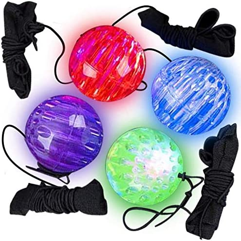 ArtCreativity Light Up Orbit Wrist Balls Set of 4 LED Balls with Flashing Lights and Elastic product image