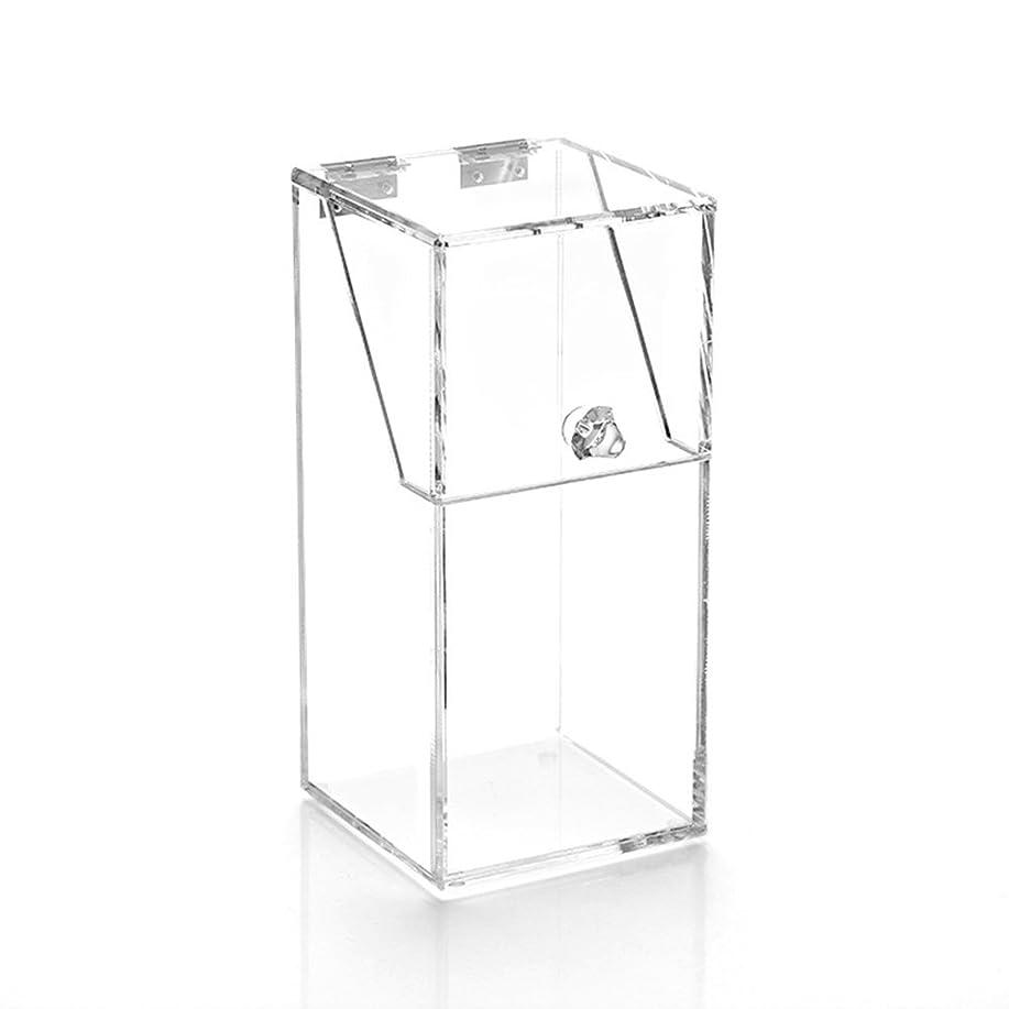 地図すすり泣きどれYouth Union ブラシ収納ボックス、大容量のストレージボックス透明なアクリル (10*10*21.5CM)