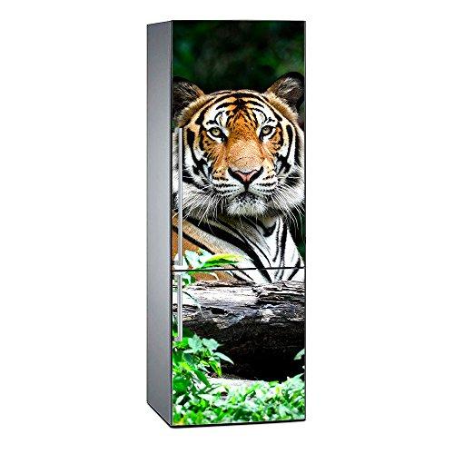 Oedim Vinilo para Frigorífico Tigre | 185 x 70 cm | Adhesivo Resistente y de Fácil Aplicación | Pegatina Adhesiva Decorativa de Diseño Elegante