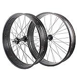 JARONOON 26 * 4.0/20 * 4.0 Pulgadas Rueda de Bicicleta de Nieve Llanta de aleación de Aluminio para Bicicleta de montaña Fat Bike, sin neumático (20' Delantero y Trasero)