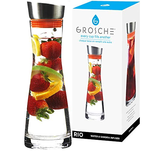 fruit infused water pitcher glass - 3