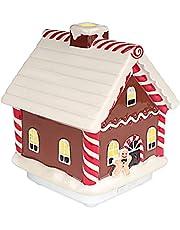 Ceramiczna aromaterapia ultradźwiękowa chłodna mgiełka dyfuzor olejków eterycznych, Boże Narodzenie piernik dekoracje domu z 2 trybami mgły, bezwodny automatyczne wyłączanie nawilżacz na prezent świąteczny 100 ml