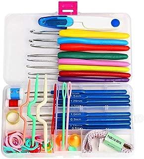 Kit Knit - 16 Sizes Full Set DIY Crochet Hooks Needles Stitches Knitting Craft Case Agulha Weaving/Sewing Tools - Samoda