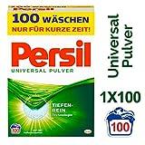 Persil Universal Pulver, Vollwaschmittel, mit Tiefenrein-Technologie, 1er Pack (1 x 100 Waschladungen)